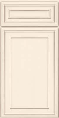 Door Detail - Square Recessed Panel - Veneer (NBM) Maple in Canvas - KraftMaid Cabinetry