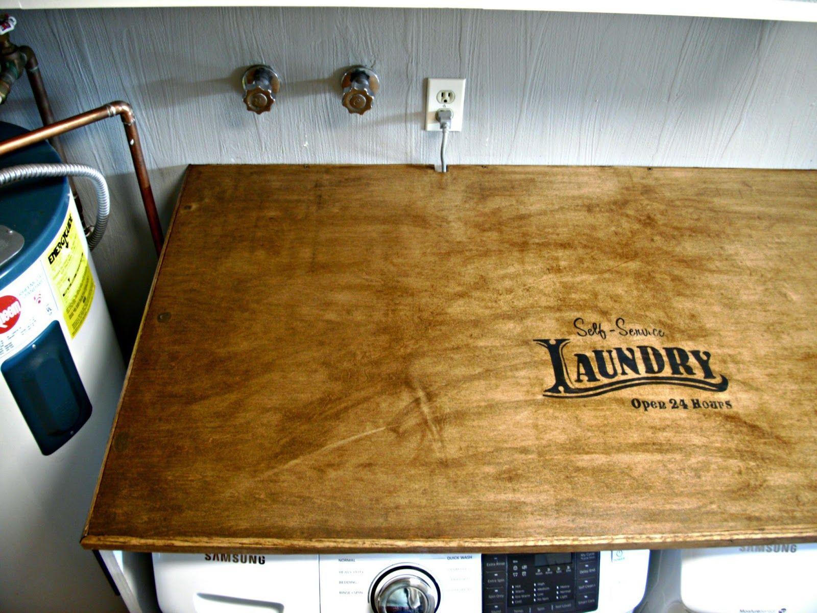 Laundry Room Redo   DIY Laundry Folding Table