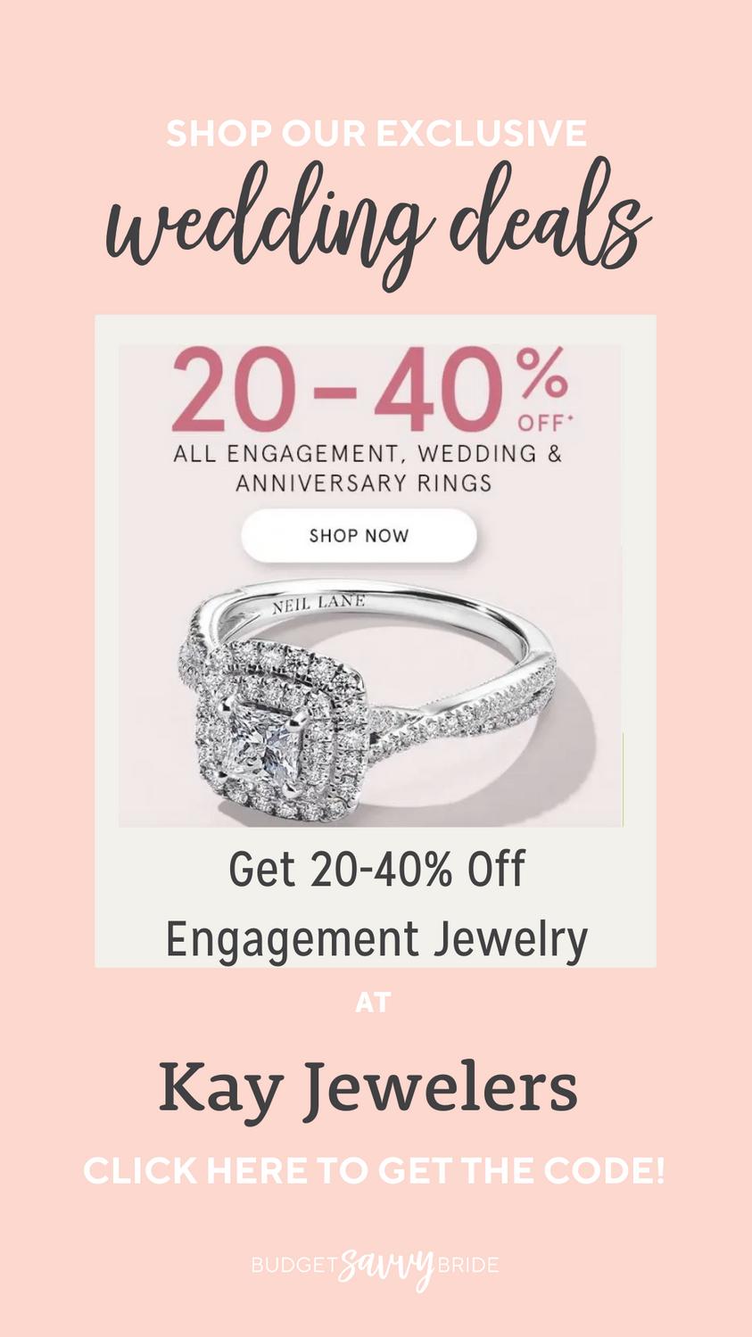Kay Jewelers Discount Kay Jewelers Coupon Wedding Deals In 2021 Wedding Deals Kay Jewelers Jewels