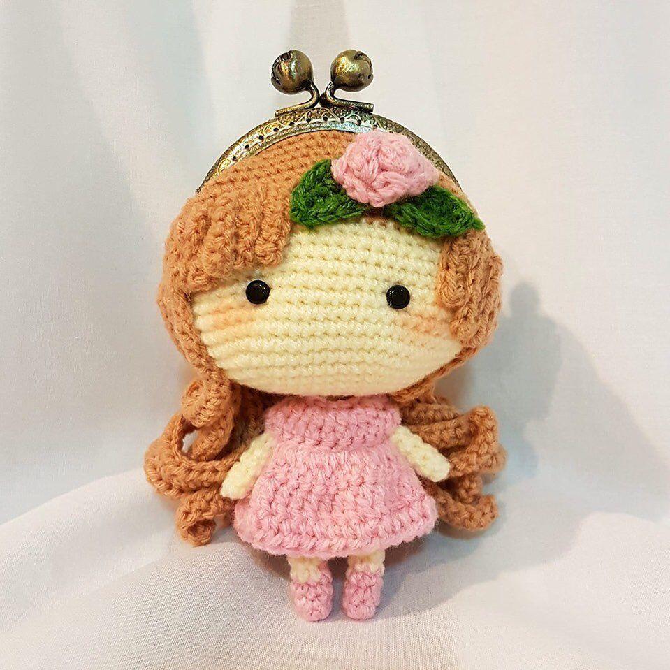 Cradle Purse Doll Kit | Purses, Doll cradle, Crochet bag | 959x959