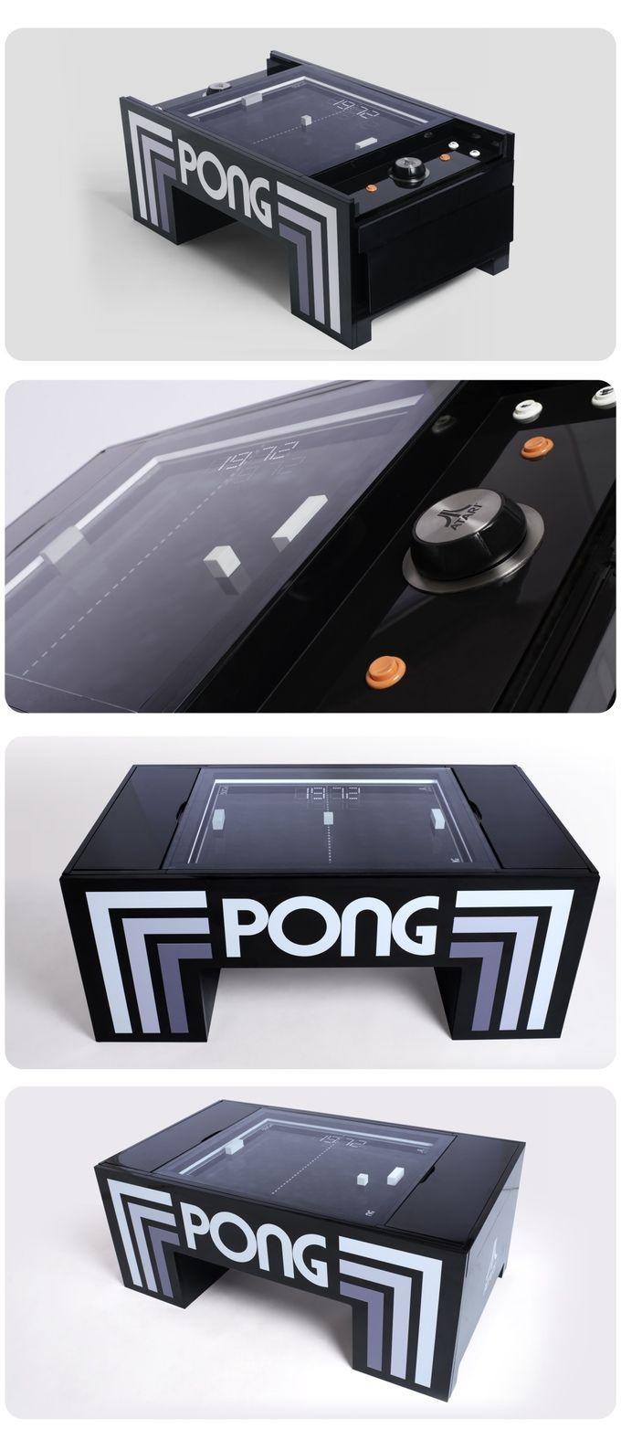Play Atari Pong In Your Coffee Table By Gerardo Orioli