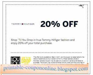 tommy hilfiger sign up coupon