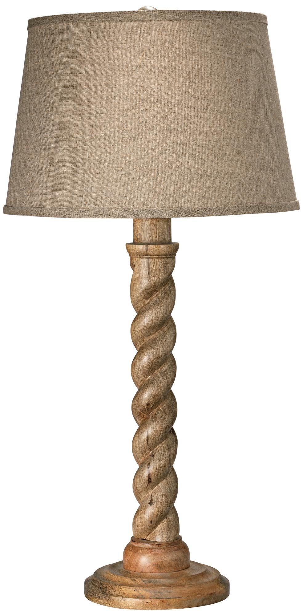 Jamie young barley twist natural wood table lamp living room jamie young barley twist natural wood table lamp geotapseo Gallery