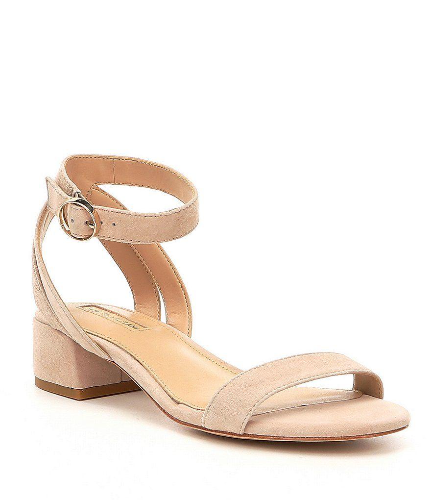 Antonio Melani Mabbela Suede Ankle Strap Block Heel Sandals mw94vI8xB