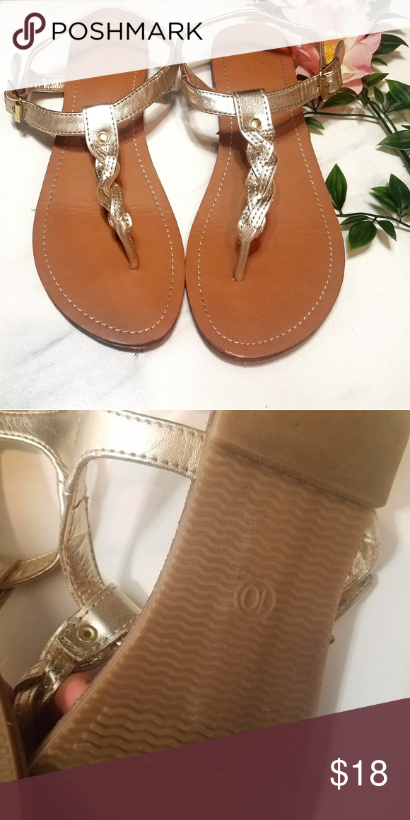 2a198f13f80 Gold braided mossimo gladiator sandals size 10 Very lightly used Mossimo  Supply Co. Shoes Sandals