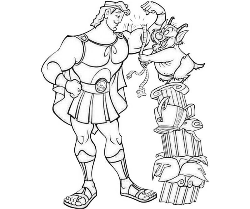 Hercules Muscular Hercules Coloring Pages Pinterest