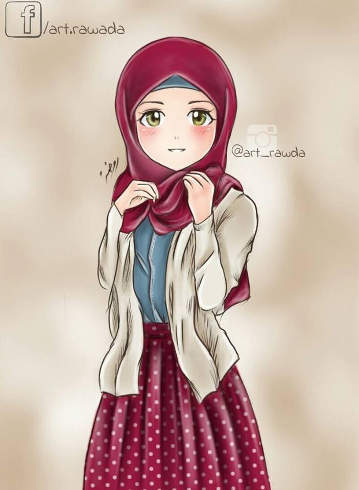 Hijab Anime Muslim Hijab Cartoon Islamic Cartoon