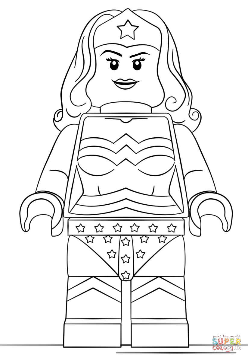 Lego Wonder Woman Coloring Page From Lego Super Heroes Category Select From 29042 Printable Crafts Lego Coloring Superhero Coloring Pages Lego Coloring Pages