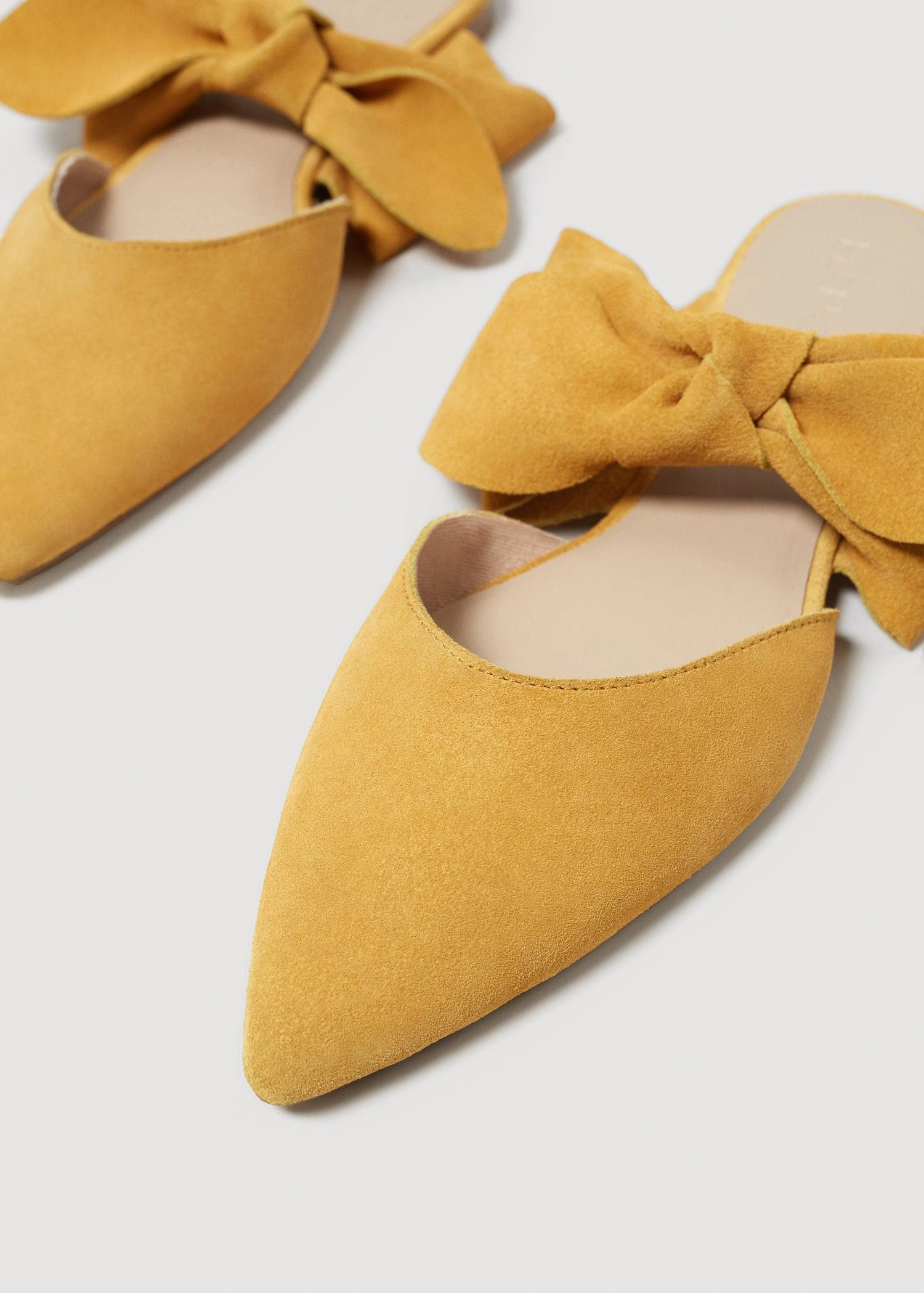 9eefca7fbf730 Mango Bow Leather Shoes - Women   7½   Products in 2019   Shoes ...