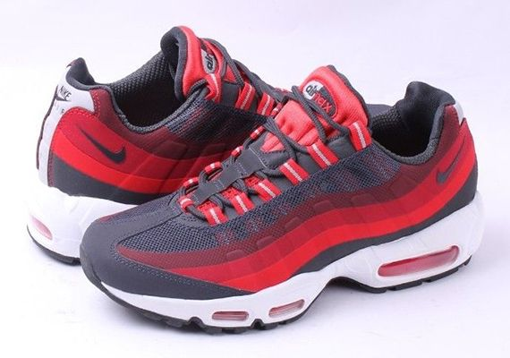 391fa73fb9 Nike Air Max 95 No-Sew - Anthracite - Challenge Red - Laser Crimson ...