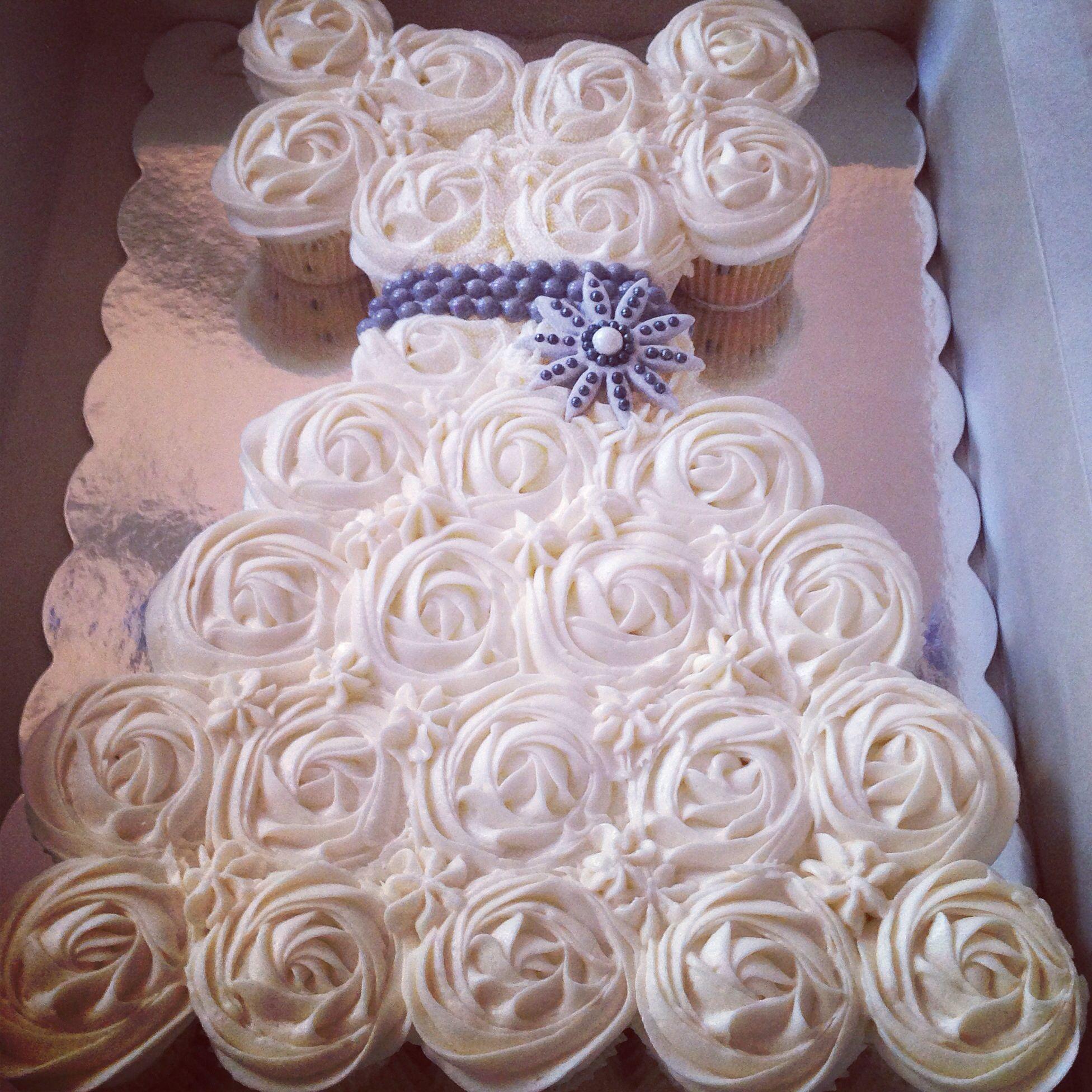 cupcake wedding dress wedding dress cupcakes bridal shower cupcake
