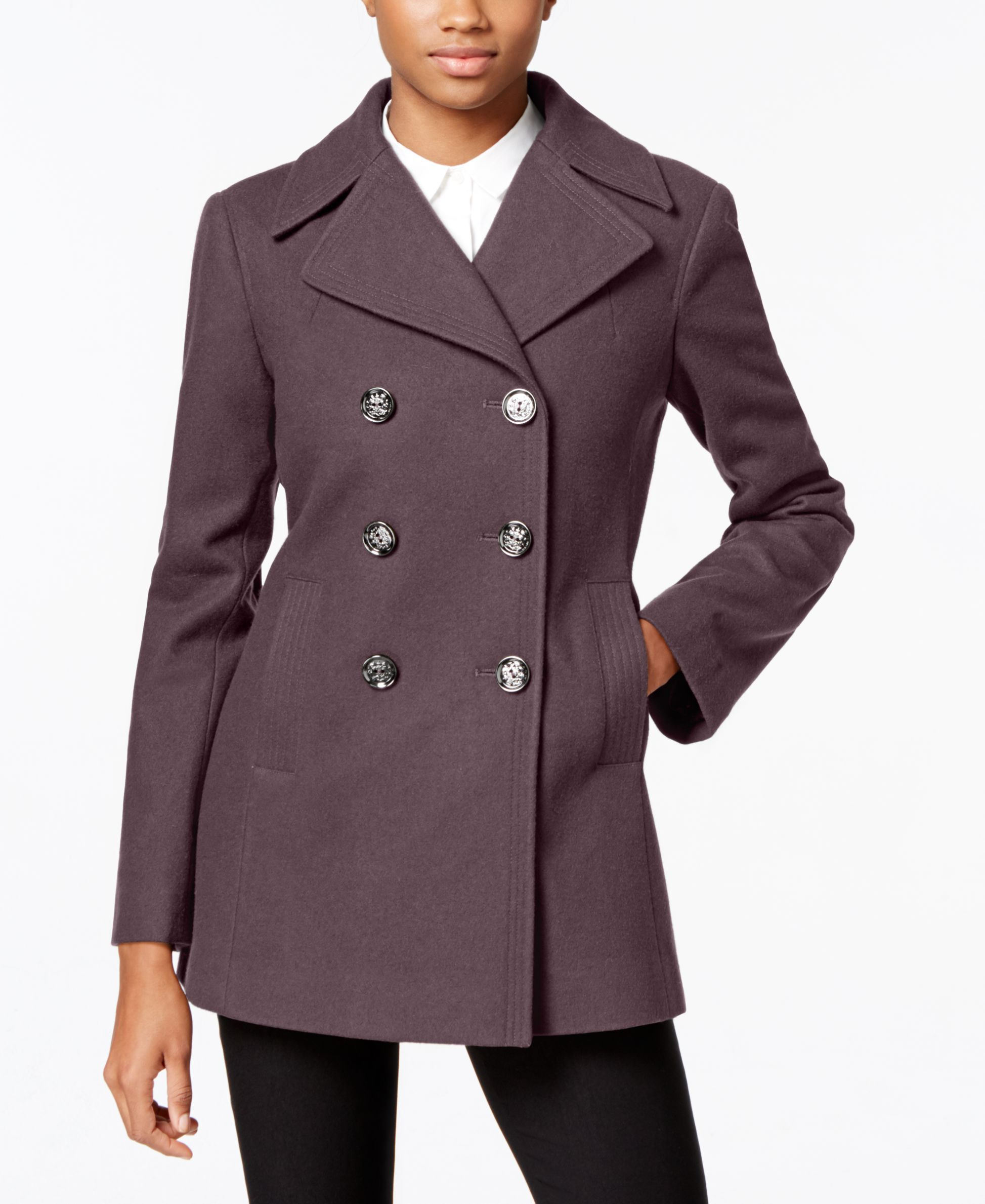 60% cheap new products classic style of 2019 Kenneth Cole Double-Breasted Peacoat, Only at Macy's ...