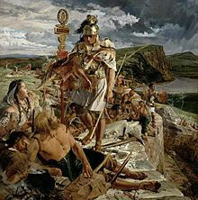hadrian s wall a painting by william bell scott which on hadrians wall id=77002