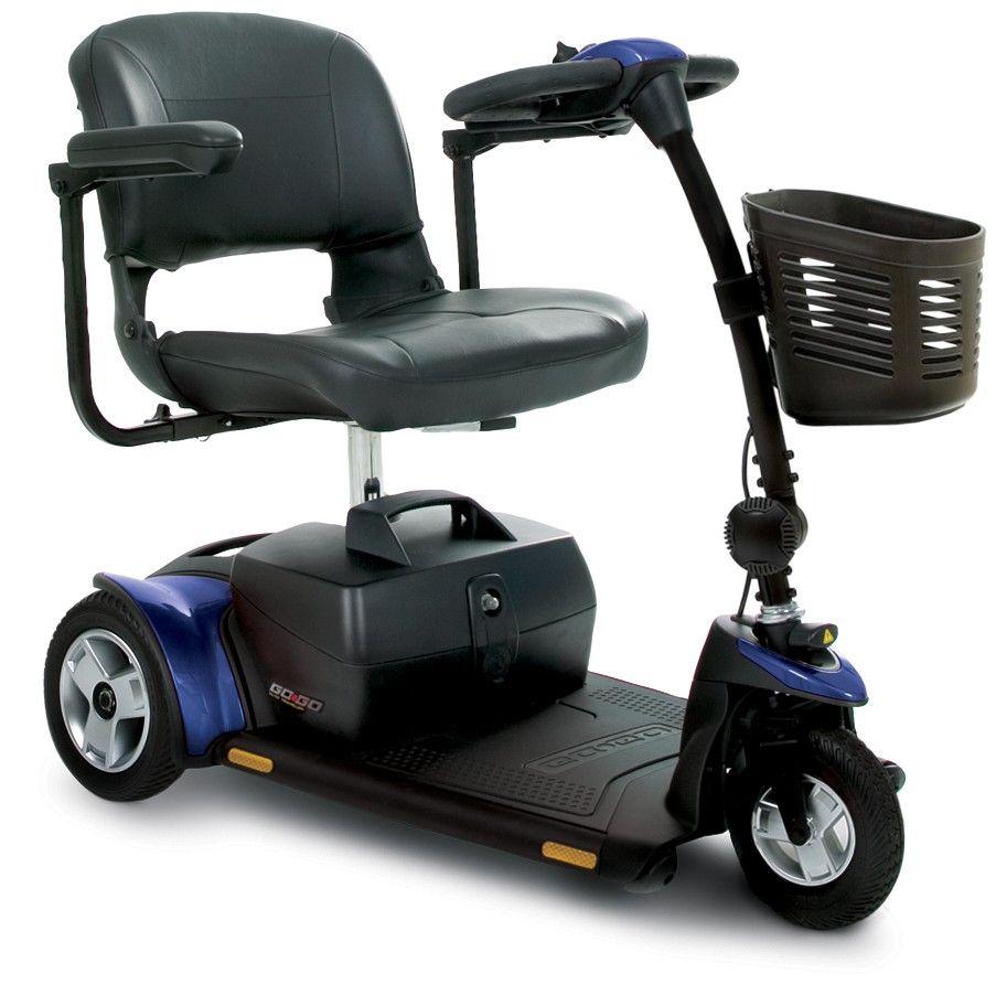 Pride's GoGo Elite Traveler Plus scooter features an