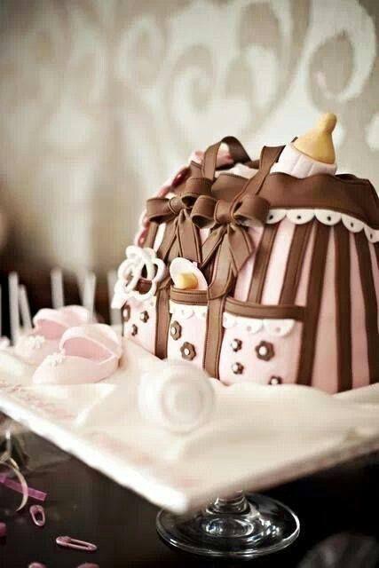 كيكة عيد ميلاد رائعة اطفال بنات كيكة طرطة Baby Shower Cakes Bag Cake Shower Cakes