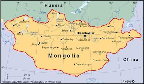 Map of Mongolian picture Mongolia is beautiful country Vast