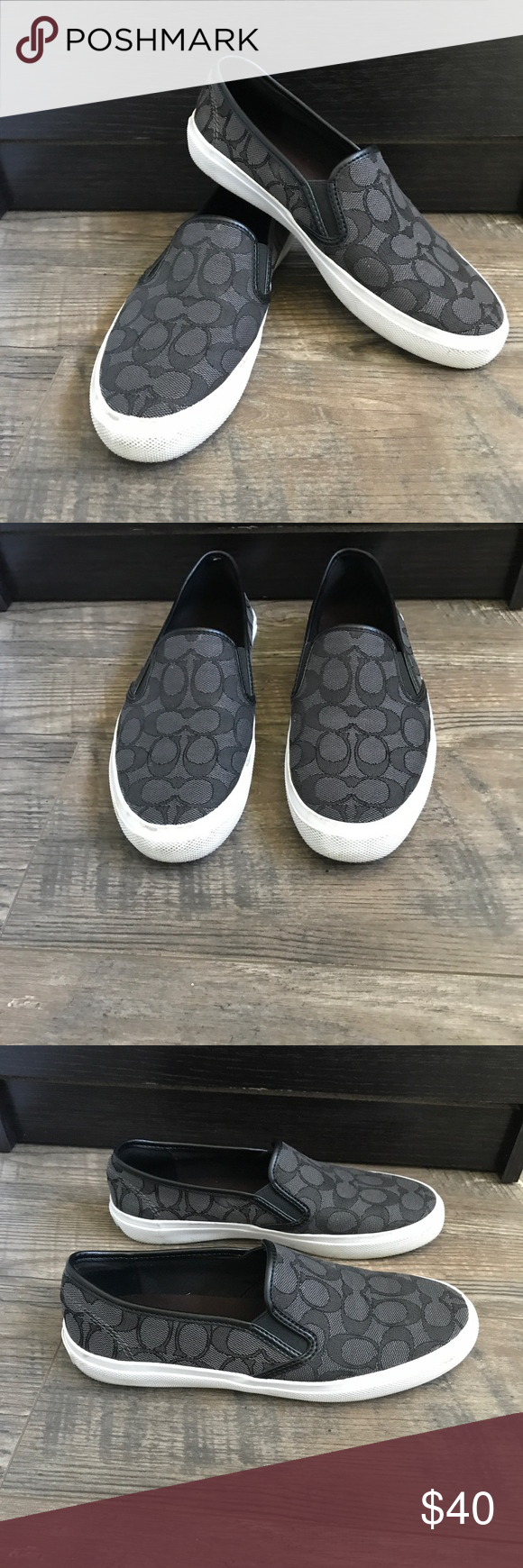 a325358663 ... low price coach signature cameron slip on sneaker canvas very good  condition coach shoes sneakers 27155