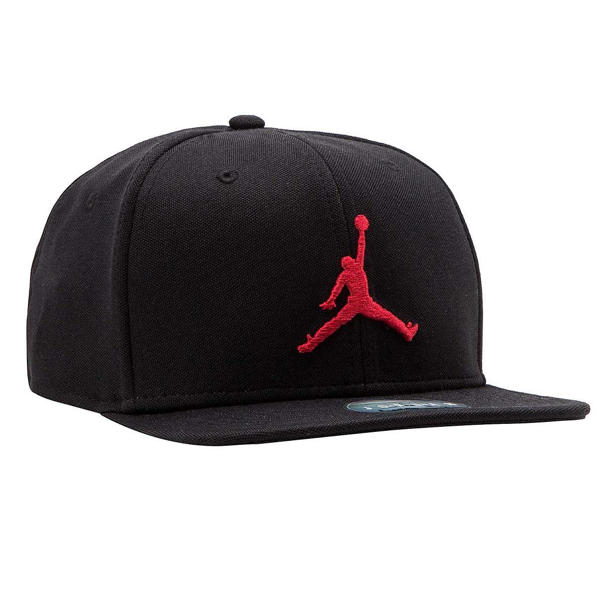 83dfecaf6c65 JORDAN JUMPMAN Snapback Cap BLACK GYM RED