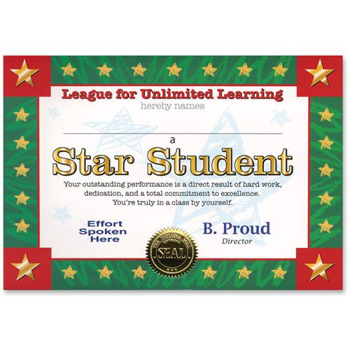 star student certificate greet school pinterest student star