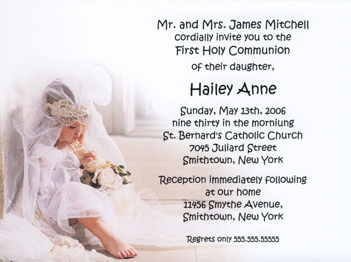 The Holy Day First Communion Invitations ~ Confirmation ...