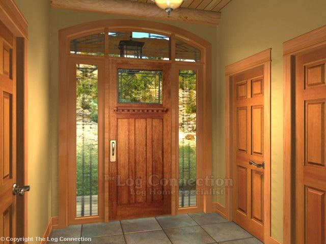 Log Home Entry Doors | Log Home Exterior Door | future home ...