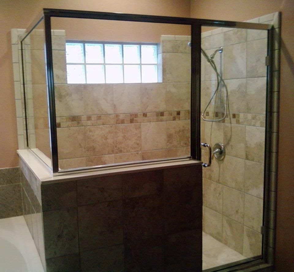Semi-Frameless Enclosure: chrome hardware | Model Shower Enclosures ...