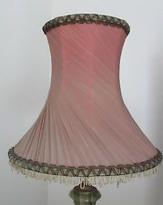 Vintage French chiffon faded dusky pink shabby chic lampshade