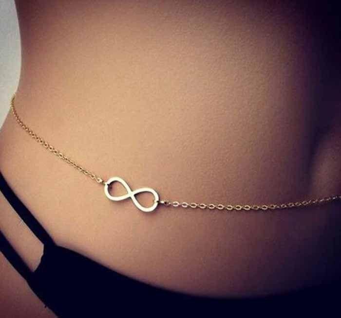 8058c3bb17e Aaishwarya Cool Infinity Sign Silver Waist Chain #waistchain ...
