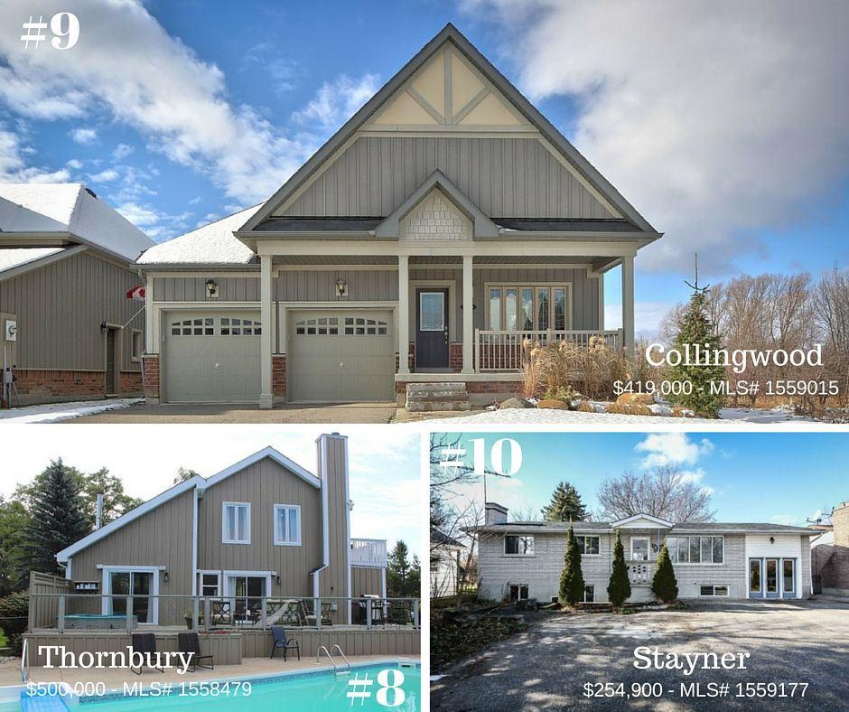 December 7th-11th - 10 Beautiful Homes for Sale in Southern Georgian Bay - Check out our website!