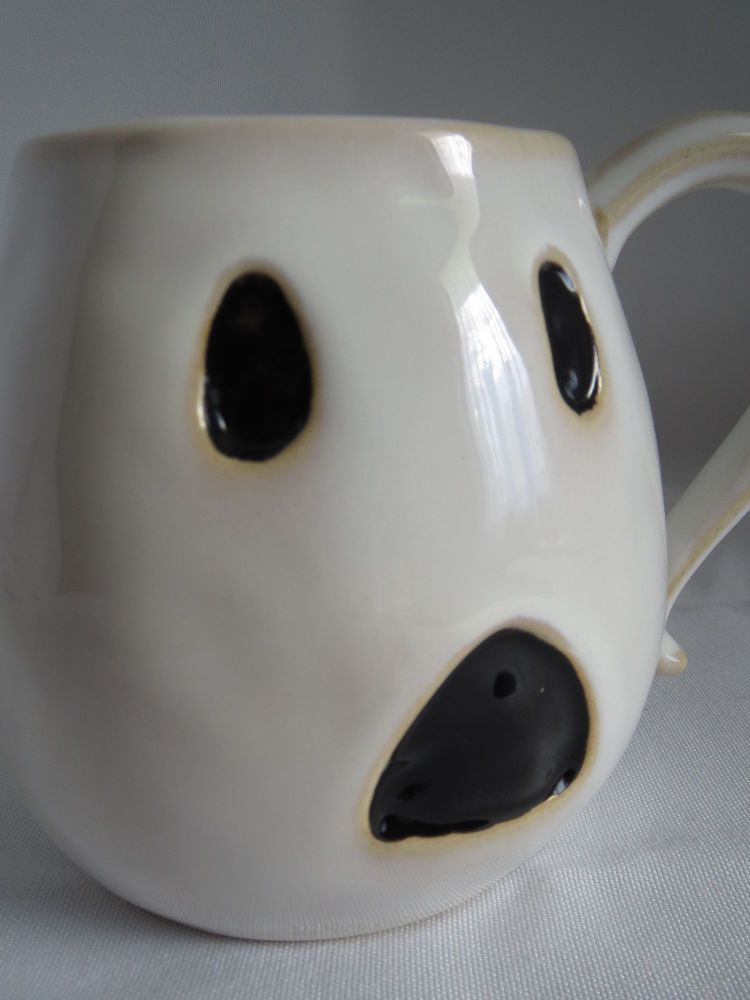 2822a14c0ca Cute Pottery Barn Ceramic Spooky Scary Boo Ghost Halloween Coffee ...