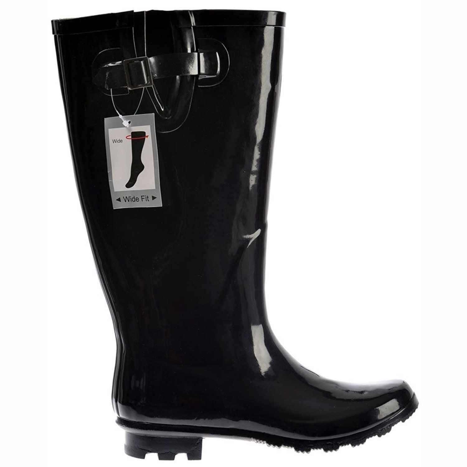 ffe94635ce5 Onlineshoe Women s Flat Wide Calf Wellie Wellington Festival Rain Boots --  Continue to the product at the image link.