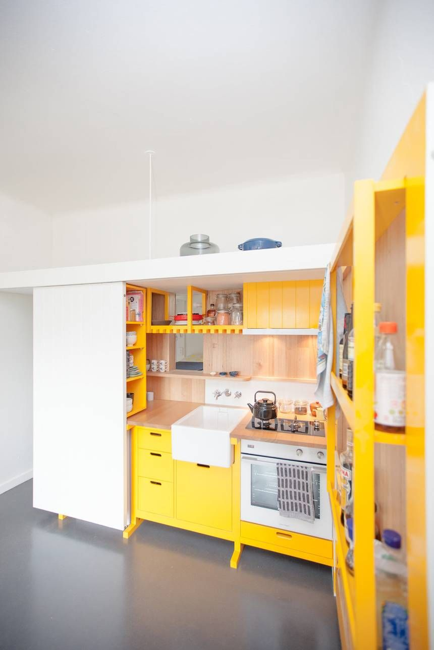 Micro Apartment Redesigned Like A Toolbox In Heritage
