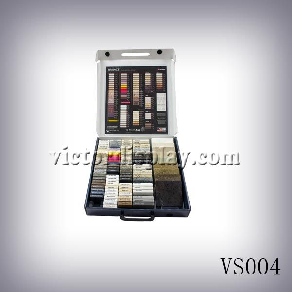 VS004 new style sample boxes and cases for quartz stone or solid ...