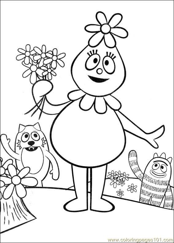 Foofa Coloring Page With Images Cool Coloring Pages Yo Gabba
