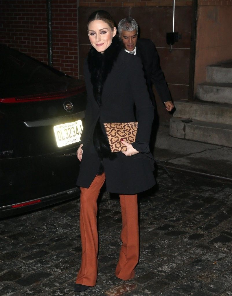 Olivia Palermo with Leopard Print Clutch | Photos Photos - Olivia Palermo Goes Out in NYC - Zimbio