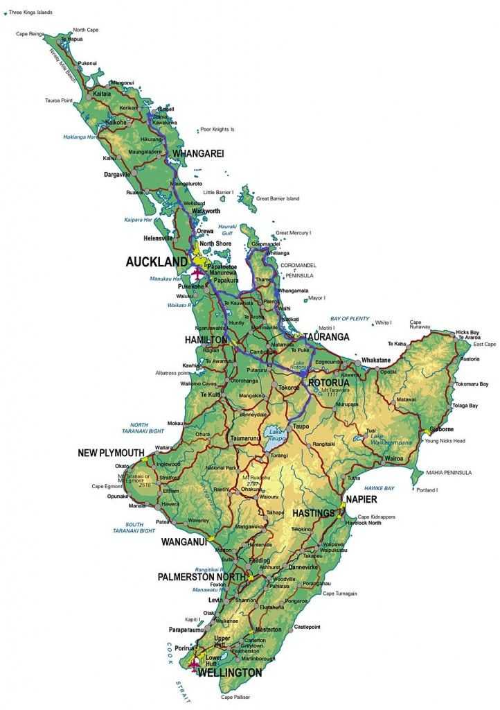 North Island New Zealand Map NZ: The North Island (With images) | Road trip new zealand