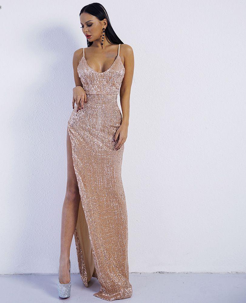 Alexis Gold Sequin Maxi Dress Vestidos Longos Estampados Vestidos De Gala Longo Vestidos [ 1000 x 811 Pixel ]
