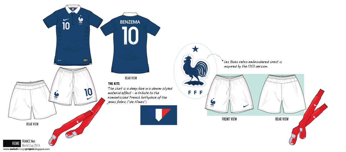 bc8fa253414 Football teams shirt and kits fan: Kits France Home 2014 completed ...
