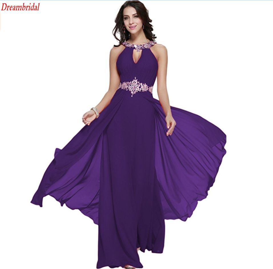 Click to buy ucuc dreambridal long chiffon prom dress halter neck