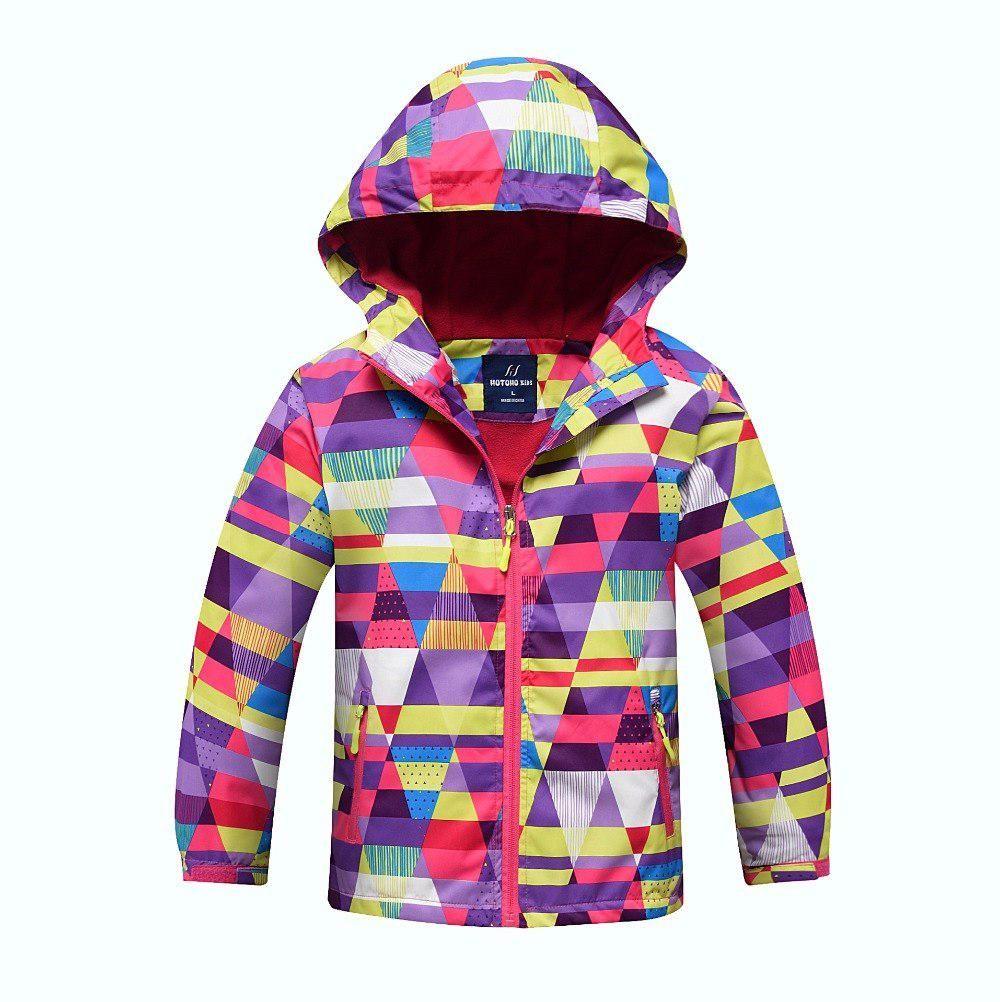 9f6d3837349d Waterproof Index 5000mm Windproof Baby Girls Jackets Child Coat Warm ...