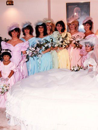 Pin On Weddings In The 70 S And 80 S Yes They Were Really Bad