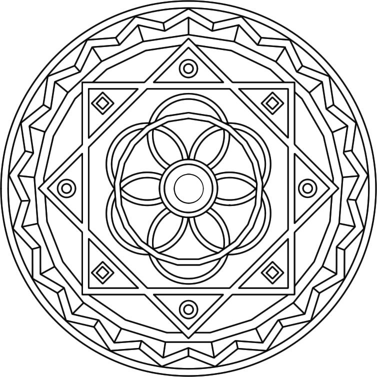 Mandala Coloring Pages Advanced Level - AZ Coloring Pages | Mandalas ...