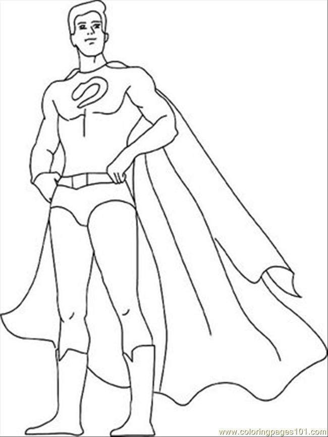 kid super hero coloring pages - photo#8