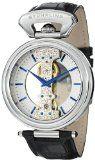 Stuhrling Original Men's 237.33152 Special Reserve Emperor Spire Mechanical Skeleton Stainless Steel Black Leather Strap Watch