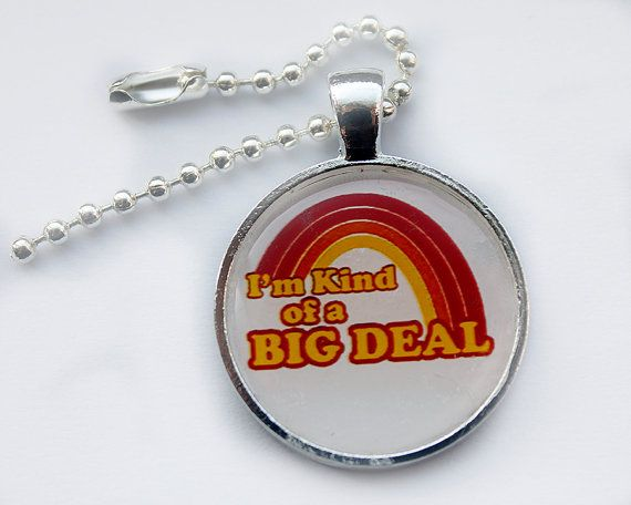Funny retro Keychain I'm Kind of a Big Deal by HConwayPhotography, $8.00