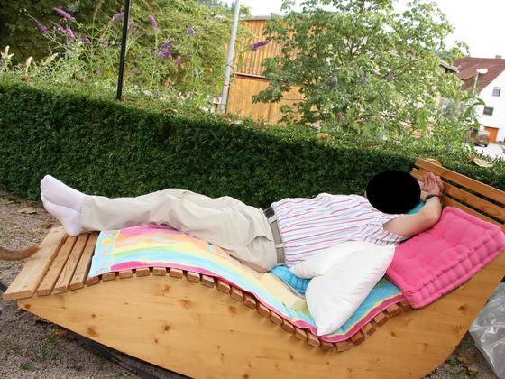 relax liege xxl f r 2 personen bauanleitung zum selber bauen selber machen selber machen. Black Bedroom Furniture Sets. Home Design Ideas