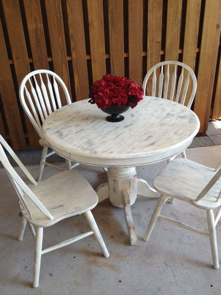 Attirant Shabby Chic White Dining Table.