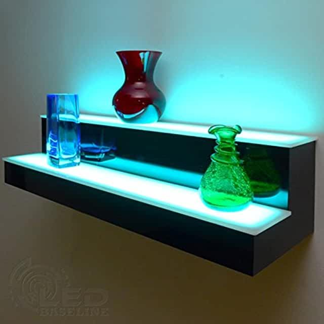 Amazon Com Floating Led Bar Shelves Floating Shelves
