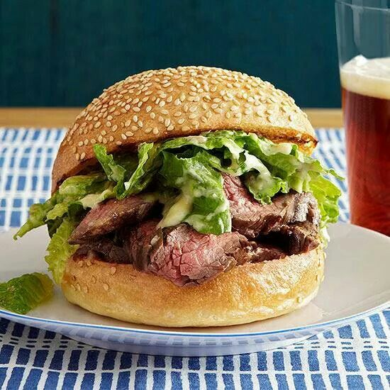 Caeser Steak Burger Rachel Ray