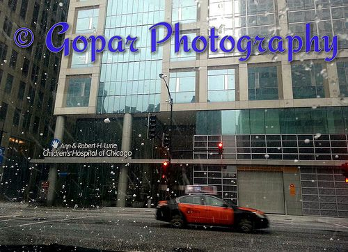 SNOWING DAY AT CHICAGO CHILDREN HOSPITAL